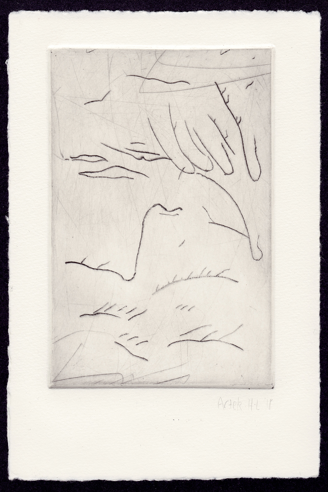 An etching print, state 10