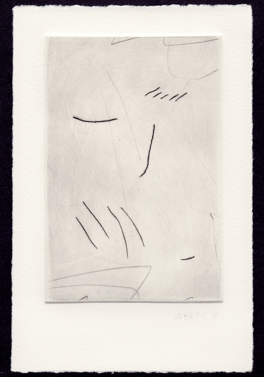 An etching print, state 2